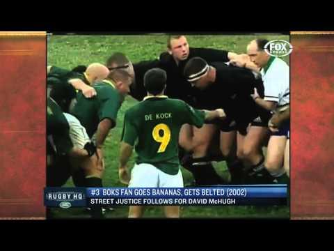 Rugby fans go wild