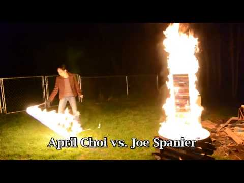 You'll Never Be As Cool As These People Playing Flaming Jenga With A Fire Whip