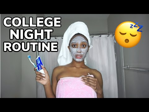 MY COLLEGE NIGHT ROUTINE (funny Af)