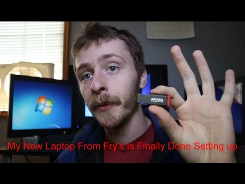 michaeltechroom vlog091 My New Laptop From Fry's Is Finally Done Setting up