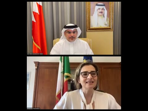 HRH the Crown Prince and Prime Minister meets remotely with the Ambassador of the Italian Republic to the Kingdom of Bahrain