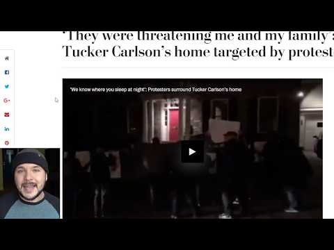 Tucker Carlson's Home Vandalized, Family Threatened By Antifa