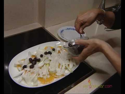 La ensalada de bacalao con naranja de elisa