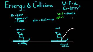 See more videos at:http://talkboard.com.au/In this video, we look at the work done on an object during a collision. This requires us to calculate the energy used in the collision.
