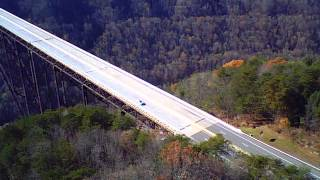 Fayetteville (WV) United States  city photo : New River Gorge Bridge in West Virginia - from the sky