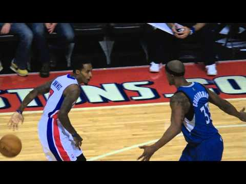 Brandon Jennings' Behind the Back Pass for the Andre Drummond Power Jam