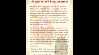 Lời khai thị của đại sư Ấn Quang