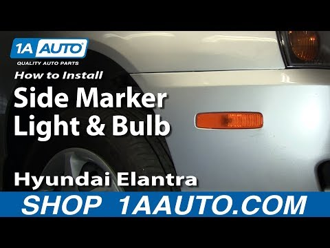 How To Install Replace Side Marker Light and Bulb Hyundai Elantra 01-06 1AAuto.com