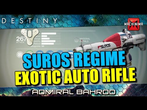 rifle - So in today's Exotic/Legendary analysis we take a look at the Suros Regime and is probably one of, if not THE best auto rifle in the game! ▻ Subscribe - http://www.youtube.com/subscription_cente...