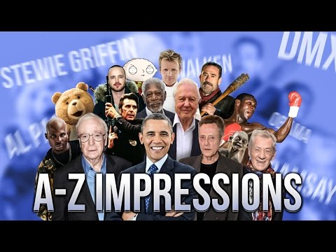 AZ of Celebrity Impressions by Scheiffer Bates
