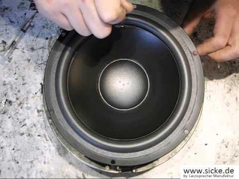 Dynaudio 24W7506 MSP Filterschaum  Lautsprecher Bass Reparieren Sicke Ersetzen Refoam