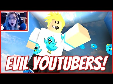 ROBLOX ESCAPE THE EVIL YOUTUBERS | LOOK MOM I'M IN AN OBBY! (видео)