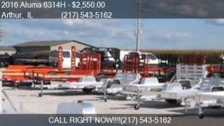 1. 2016 Aluma 6314H Aluminum Trailer for sale in Arthur, IL 619