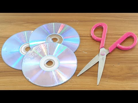 BEAUTIFUL PHOTO FRAME MAKING AT HOME OUT OF WASTE CD DISC | BEST OUT OF WASTE