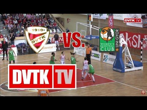 Női kosárlabda NB I. előddöntő, első mérkőzés. Aluinvent DVTK - CMB Cargo UNI Győr