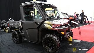 7. 2018 Can Am Defender XT HD8 Utility ATV - Walkaround - 2017 Drummondville ATV Show