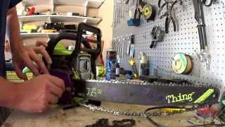 Amazon link - http://amzn.to/1FZc461Trying to replace a chain on a Poulan P4018WT Wild Thing 18-Inch chainsaw