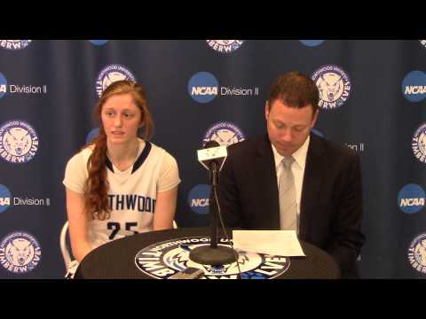 Northwood University Women's Basketball (1/10/15) NU 81, Ohio Dominican 75 - Press Conference