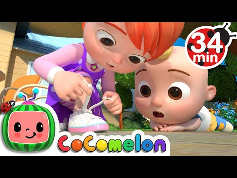 Learn To Tie Your Shoes + More Nursery Rhymes & Kids Songs - CoComelon