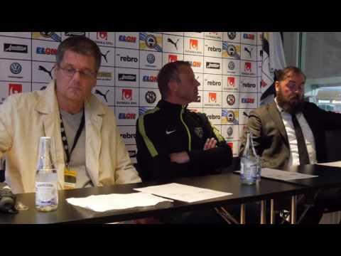 Presskonferens med Alexander Axén och Hasse Eklund
