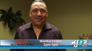 Don Sam, the original DS is now on KJOZ 880am . Don Sam is, as you know Houston's own multi award winning radio icon with that silky smooth baritone voice that's as cool as the other side of the pillow. Tune in to KJOZ 880am weekdays from 2pm til 5pm and let's all share Memories and More with Don Sam.