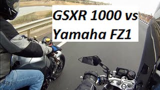 10. GSXR 1000 vs Yamaha FZ1 - Short Acceleration Video.