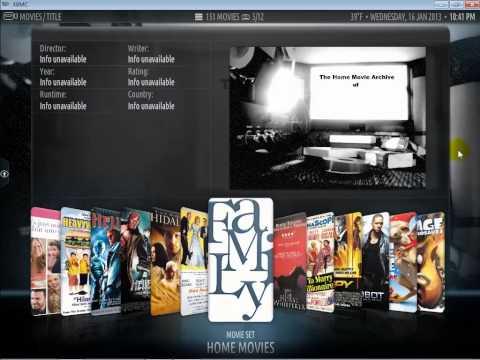 XBMC Home Movies Demo