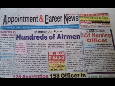 Appointment & career news paper 23rd 29th June 2018 upload by job hunt