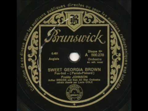 Freddy Johnson & Arthur Briggs, Sweet Georgia Brown. Paris 1933 online metal music video by FREDDY JOHNSON