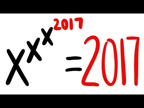 x^x^x^2017=2017, inspired by a coffin question