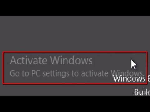 """How to remove """"Activate Windows Go to PC settings to activate Windows"""" Watermark in windows 8/8.1/10"""