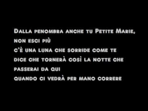 Tekst piosenki Umberto Tozzi - Petite Marie po polsku