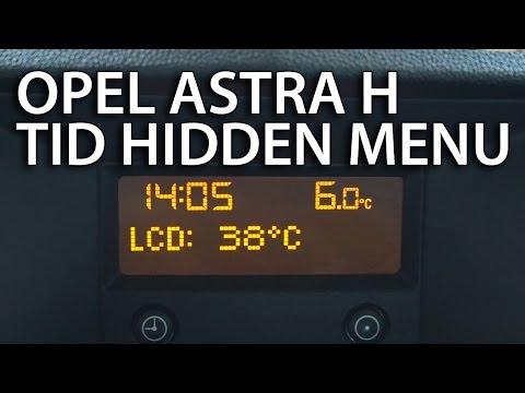 Info display opel zafira a фотка