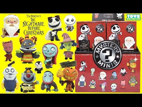 Tim Burton's Nightmare Before Christmas Mystery Minis Funko Pop with Jack Skellington