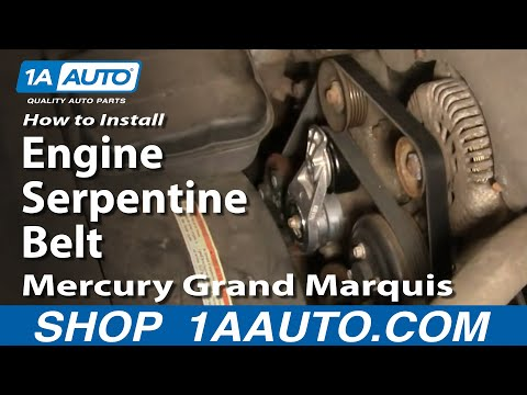 How To Install Replace Engine Serpentine Belt Mercury Grand Marquis 4.6L 00-02 1AAuto.com