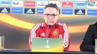 Rapid-Pressekonferenz vor dem Spiel gegen Genk