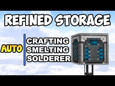 AUTOCRAFTING, AUTO SMELTING and AUTO SOLDERER w/ REFINED STORAGE • Minecraft Mod Showcase