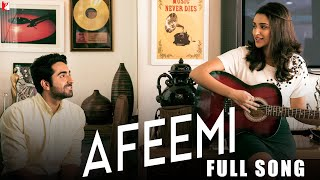 "A song that will instantly set you high on love. Lose yourself in the romantic melody of 'Afeemi' - Full song  from the film 'Meri Pyaari Bindu'.Song Credits:Song: AfeemiSingers: Jigar Saraiya & Sanah MoiduttyMusic: Sachin-JigarLyrics: Kausar MunirEnjoy & stay connected with us!► Subscribe to YRF: http://goo.gl/vyOc8o► Like us on Facebook: https://www.facebook.com/MeriPyaariBindu► Follow us on Twitter: https://twitter.com/MeriPyaariBindu► Follow us on Instagram: https://www.instagram.com/meripyaaribinduMovie Credits:Starring: Ayushmann Khurrana and Parineeti ChopraDirector: Akshay RoyProducer: Maneesh SharmaWritten By: Suprotim SenguptaMusic Director: Sachin-JigarLyricist: Kausar Munir, Priya Saraiya, VayuRelease Date: 12 May 2017Synopsis:Fed up with the lack of critical appreciation despite being a successful writer, Abhimanyu Roy (Ayushmann Khurrana) returns to his roots in Kolkata to write more meaningful literature and decides on an old-fashioned love story - which was now, 3 years in the making.This writers block is called Bindu (Parineeti Chopra). How do you contain this unpredictable, crazy, restless, larger than life, live wire in the pages of a book?As Abhi says ''You know when a song comes on and you just have to dance? Bindu was that song. That silly infectious joyful tune you couldn't get out of your head… even if you wanted to.""So where should he begin? Where should he end?But when Abhi stumbles across an old audio cassette of their favourite playlist, it sends Abhi down memory lane… and as he waltzes in and out of his past and present through the songs in the mixed tape, he finally faces reality and reconnects with his roots, with his family and his novel starts writing itself.Of course, life in its usual scheming manner surprises him yet again and changes the ending of his book and his life, as he once again finds himself being pulled back into the center of that crazy little thing called love.He realizes, that love, is neither time- nor place-dependent….All we need is the right person next to us and of course the right soundtrack."