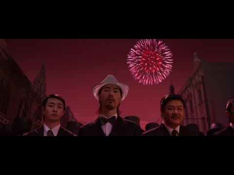 Kung Fu Hustle (2004) Police Station and first Gang Fight, 1080p HD
