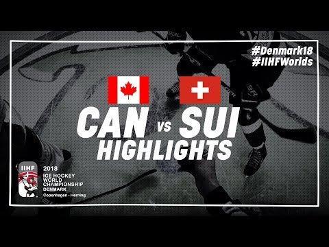 Game Highlights: Canada vs Switzerland May 19 2018 | #IIHFWorlds 2018 (видео)