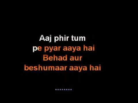 Video Aaj Phir Hate Story 2 Karaoke Song full Arijit Singh download in MP3, 3GP, MP4, WEBM, AVI, FLV January 2017