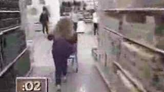 "From the canadian version of ""Supermarket Sweep"", here's a contestant really going the extra mile."