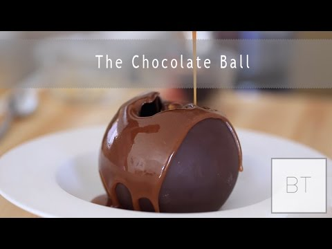 This Delicious Chocolate Sphere Melts Away to Reveal Ice Cream