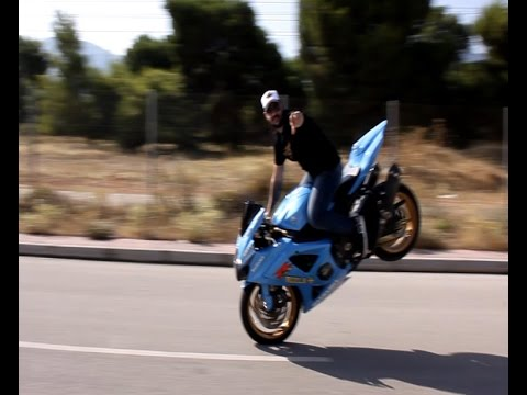 drifting pazzesco con suzuki gsx k8 1000!