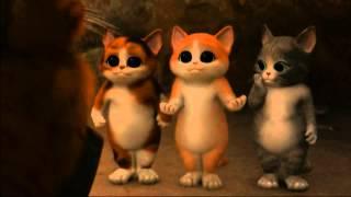 『長ぐつをはいたネコ』スピンオフのショート ムービー「悪の三銃士」1