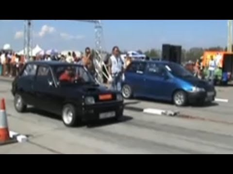 renault 5 alpine turbo vs. fiat punto gt turbo drag race
