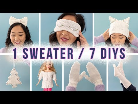 7 DIY's from 1 Sweater  ZERO WASTE!