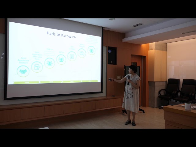 Foresight Forum - Toward Sustainability Transition Driven by Climate Change: The Opportunities for East Asia -  Dr. Ho-Ching Lee - 2018august