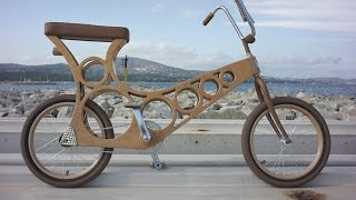 A wooden bicycle you can make yourself