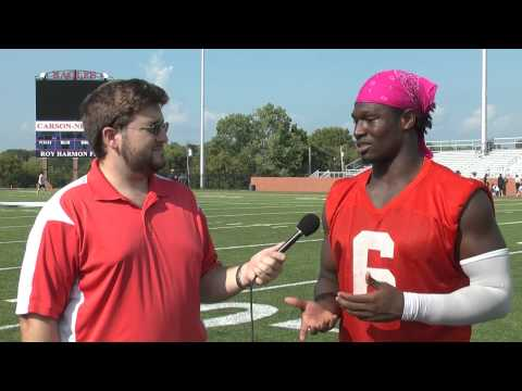 C-N Football: Darryl Eubanks post scrimmage interview 8-23-14